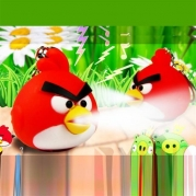 2013 NEW angry bird keychain with sound