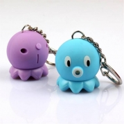 Cute Octopus LED sound keychain